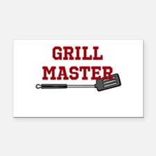 Grill Master Spatula in Red Rectangle Car Magnet