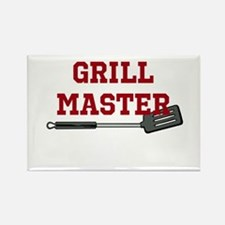 Grill Master Spatula in Red Rectangle Magnet