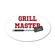 Grill Master Spatula in Red Wall Decal