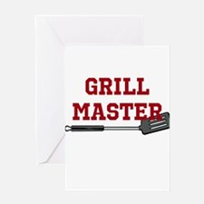 Grill Master Spatula in Red Greeting Card