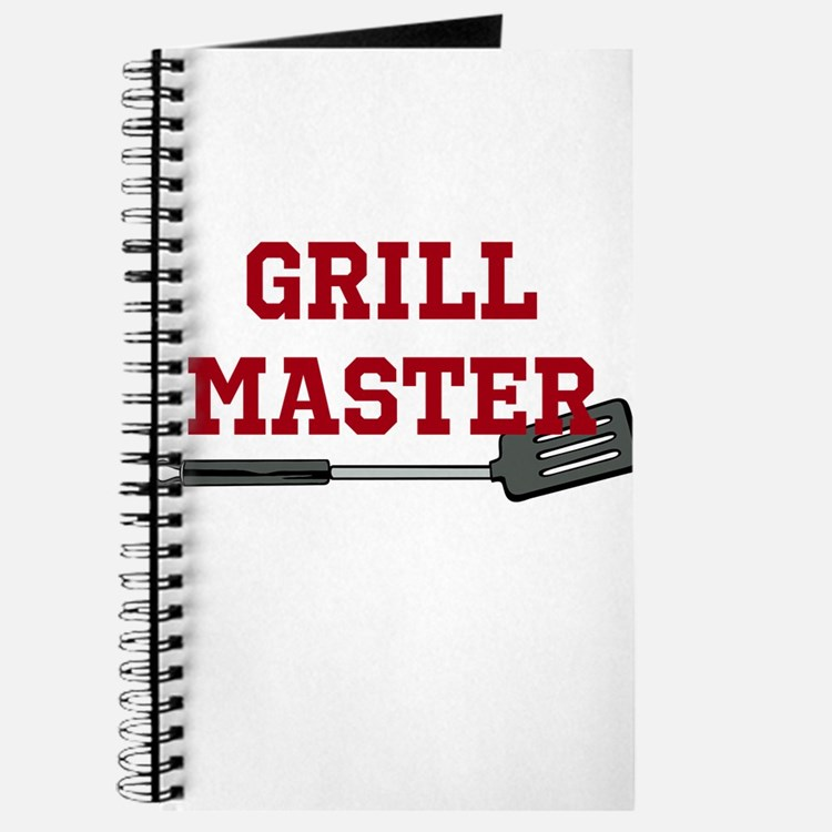 Grill Master Spatula in Red Journal