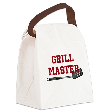 Grill Master Spatula in Red Canvas Lunch Bag