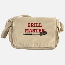 Grill Master Spatula in Red Messenger Bag