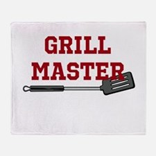 Grill Master Spatula in Red Throw Blanket