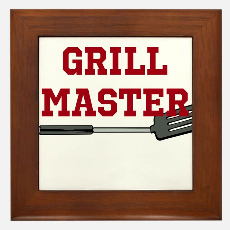 Grill Master Spatula in Red Framed Tile