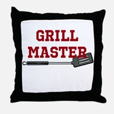 Grill Master Spatula in Red Throw Pillow