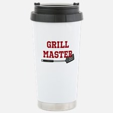 Grill Master Spatula in Red Travel Mug