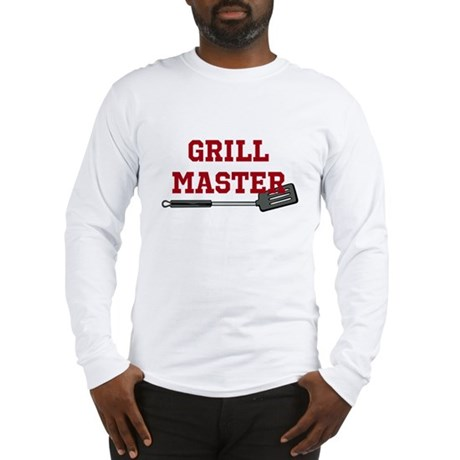 Grill Master Spatula in Red Long Sleeve T-Shirt