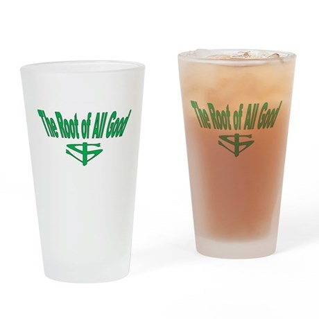 Money, The Root of All Good Drinking Glass