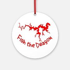 FISH THE DRAGON Ornament (Round)