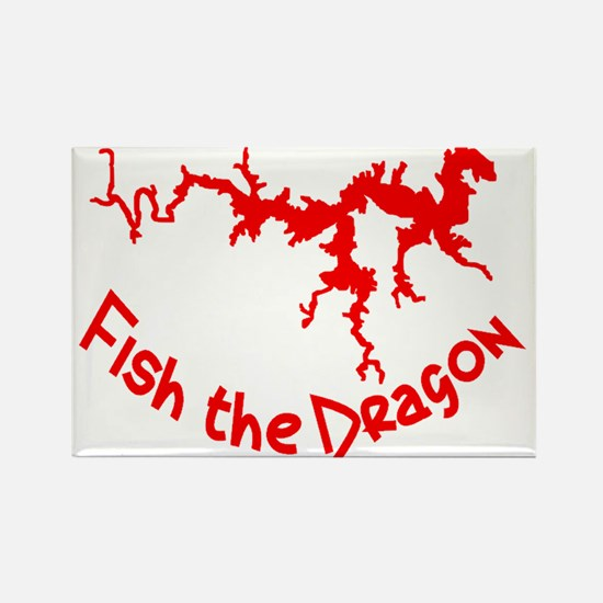 FISH THE DRAGON Rectangle Magnet