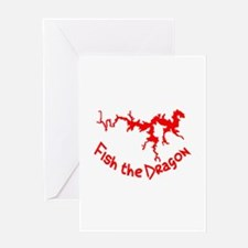 FISH THE DRAGON Greeting Card