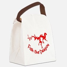 FISH THE DRAGON Canvas Lunch Bag