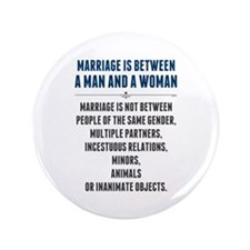 "Marriage In America 3.5"" Button"