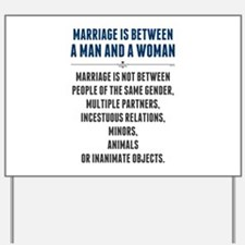 Marriage In America Yard Sign