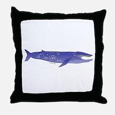Blue Whale 2 Throw Pillow