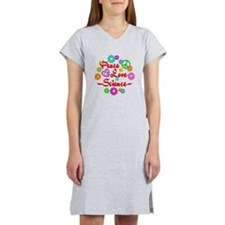 Peace Love Science Women's Nightshirt