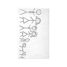 Happy family 3'x5' Area Rug