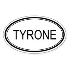 Tyrone Oval Design Oval Decal