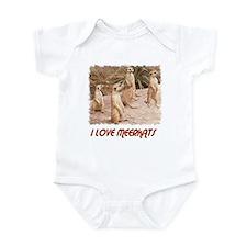 I LOVE MEERKATS Infant Bodysuit