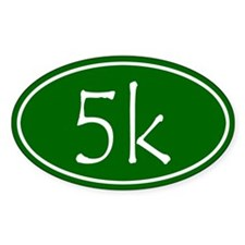 Green 5k Oval Decal