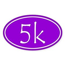 Purple 5k Oval Decal