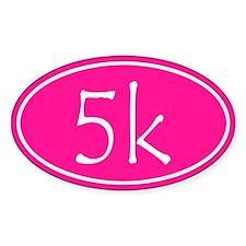 Pink 5k Oval Bumper Stickers