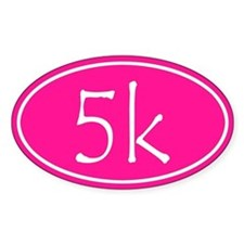 Pink 5k Oval Stickers