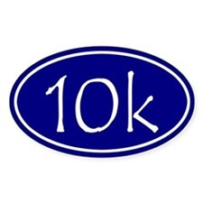 Blue 10k Oval Decal