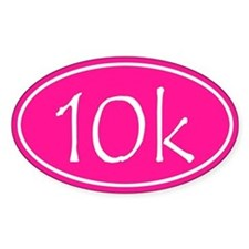 Pink 10k Oval Stickers