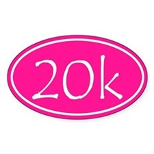Pink 20k Oval Decal