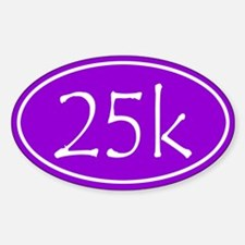 Purple 25k Oval Decal