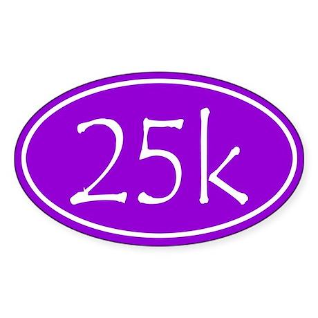 Purple 25k Oval Sticker