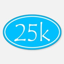 Sky Blue 25k Oval Decal