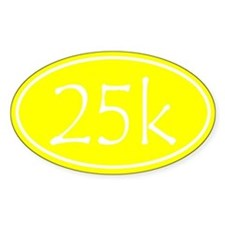 Yellow 25k Oval Decal