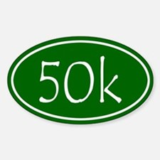 Green 50k Oval Decal