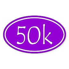Purple 50k Oval Stickers