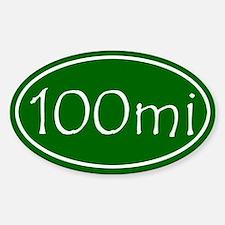 Green 100 mi Oval Decal