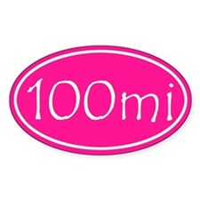 Pink 100 mi Oval Decal