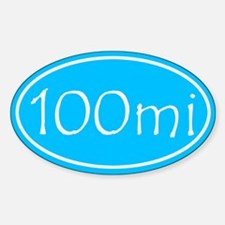 Sky Blue 100 mi Oval Decal