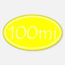 Yellow 100 mi Oval Decal