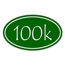 Green 100k Oval Decal