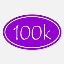 Purple 100k Oval Decal