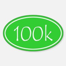Lime 100k Oval Decal