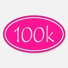 Pink 100k Oval Decal