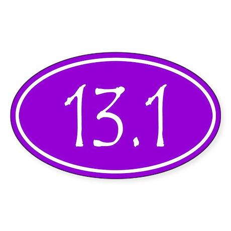 Purple 13.1 Oval Sticker