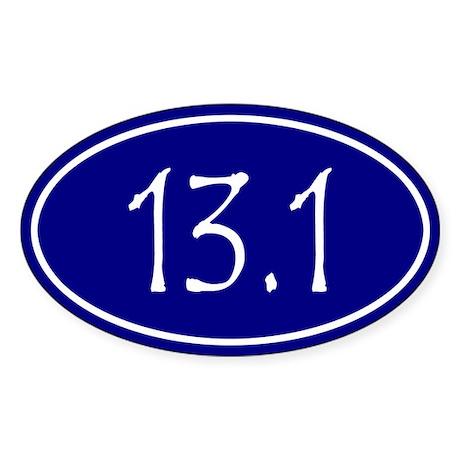 Blue 13.1 Oval Sticker