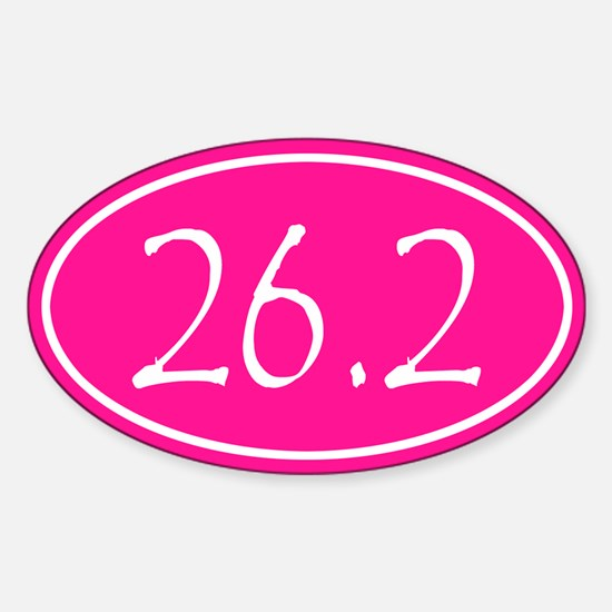 Pink 26.2 Oval Decal