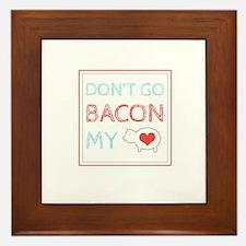 Bacon My Heart Framed Tile