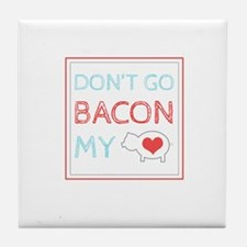 Bacon My Heart Tile Coaster